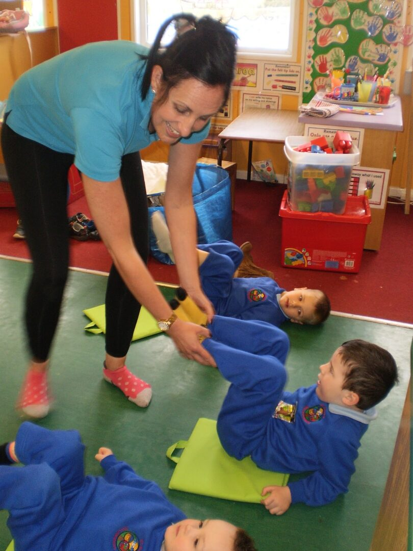 Healthy living in the nursery st mary 39 s primary school for Living room yoga sessions
